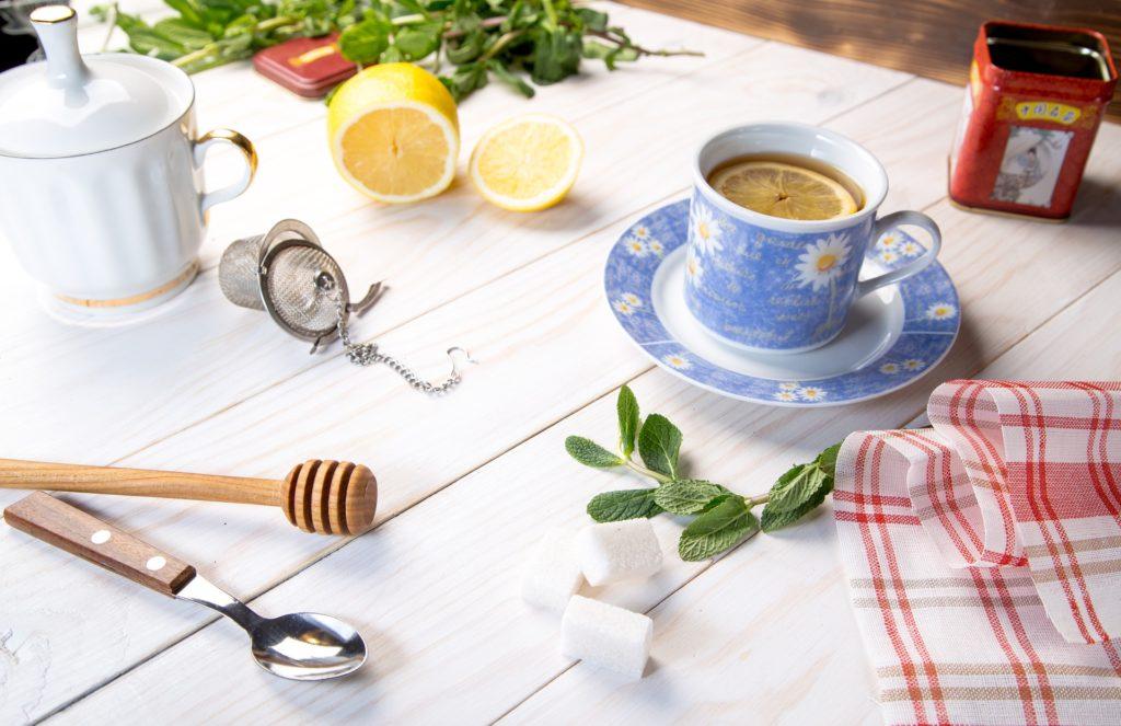tasse de thé mélange unique